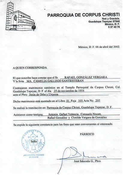 Matrimonio Catolico Registro Civil : Certificado de matrimonio registro civil